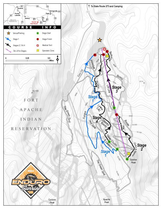 Sunrise Enduro Course Map 2019